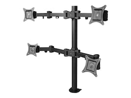Siig Articulating Quad Monitor Desk Mount for Flat Panels 13-27, CE-MT0S12-S1, 13141806, Stands & Mounts - AV