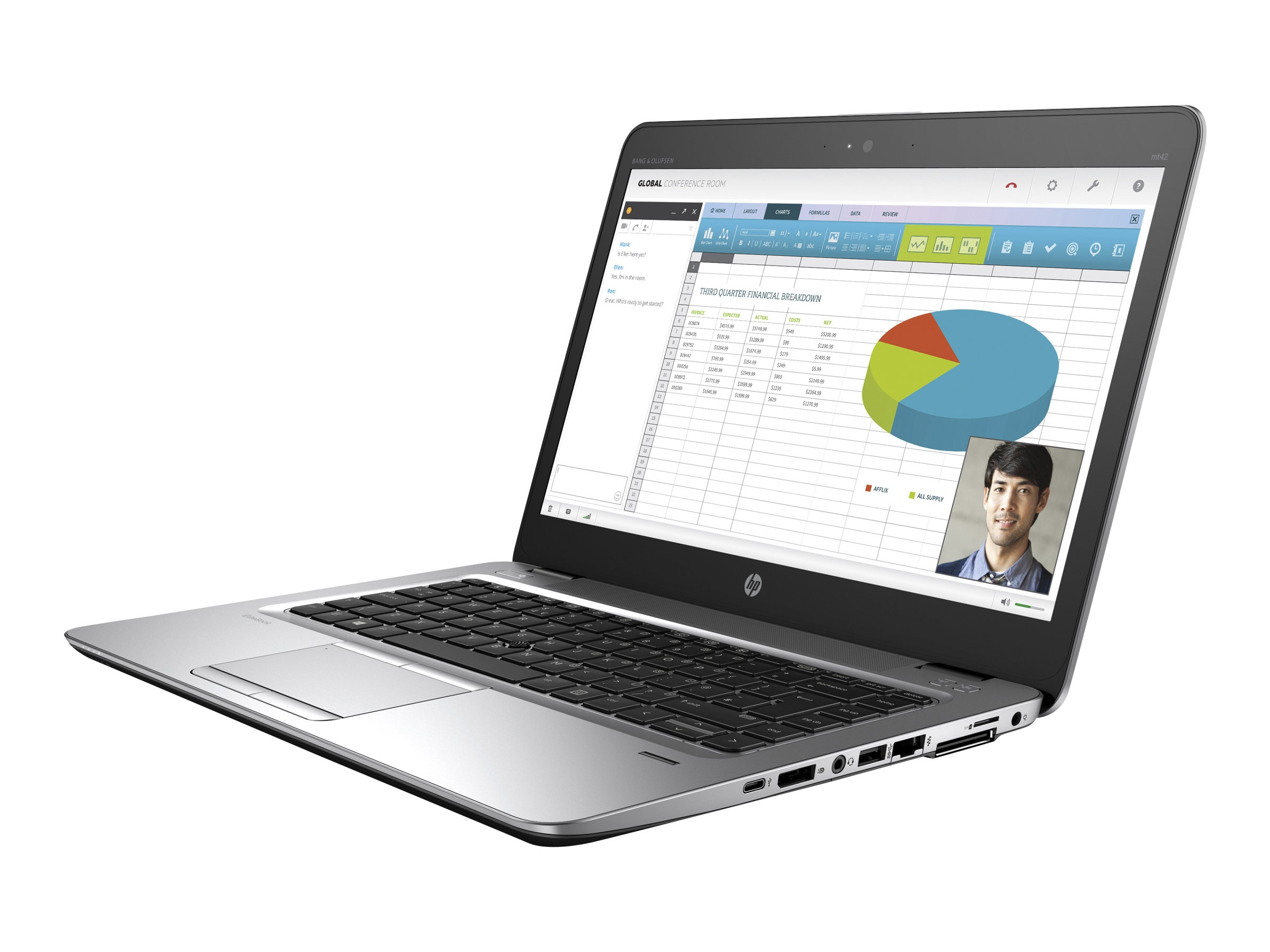 HP mt42 Mobile Thin Client AMD QC A8-8600B 1.6GHz 4GB 32GB SSD ac BT WC 3C 14 FHD WES7E