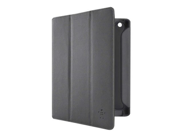 Belkin Carrying Case (Folio) for iPad - Blacktop, Gravel, E9T004-C00, 14292382, Carrying Cases - Tablets & eReaders