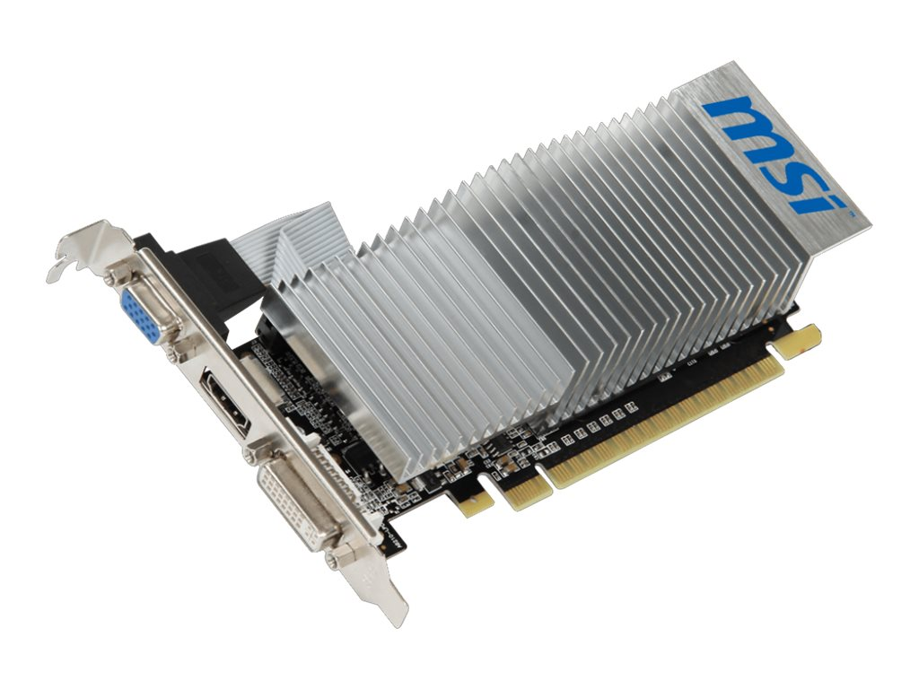 Microstar GeForce 210 PCIe 2.0 x16 Low-Profile Graphics Card, 1GB DDR3, N210-1GD3H/LP, 27267661, Graphics/Video Accelerators