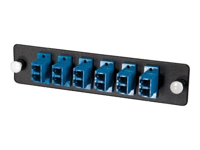 C2G 12-Strand, LC Duplex, PB Insert, MM SM, Blue LC Adapter Panel, 6-ports