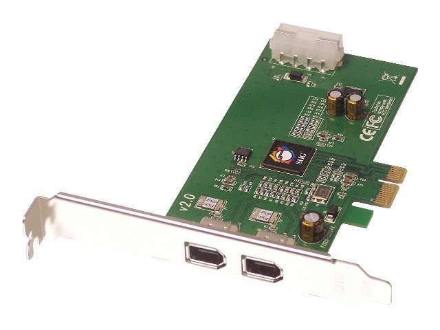 Siig FireWire 2-Port PCIE PCI Express X1 Card, RoHS