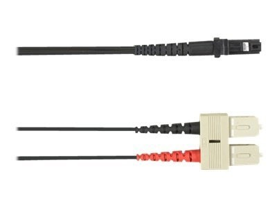 Black Box SC-MTRJ 62.5 125 OM1 Multimode Fiber Optic Cable, Orange, 1m, FOCMR62-001M-SCMT-BK