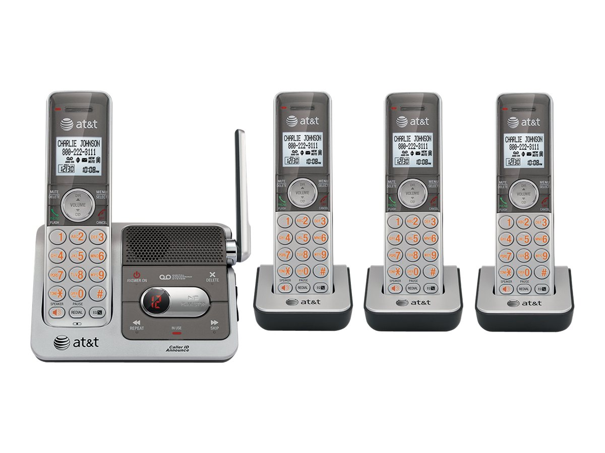 AT&T 4-Handset Cordless Answering System with Caller ID Call Waiting, CL82401, 12555871, Telephones - Consumer