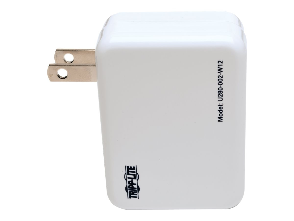 Tripp Lite 2-Port USB Wall Travel Charger, 5V, 1.0 2.4A, Instant Rebate - Save $2, U280-002-W12