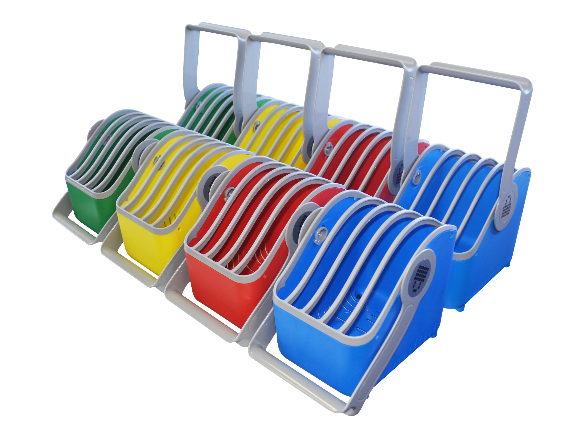 Lock N Charge Plastic 5 Slot Device Basket, LNC0096, 17657287, Cart & Wall Station Accessories