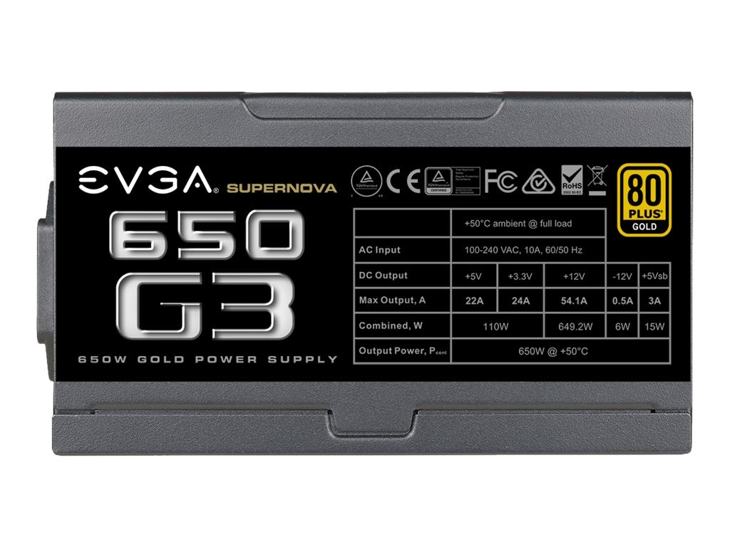 eVGA 650W Supernova 650 G3 Power Supply, 220-G3-0650-Y1