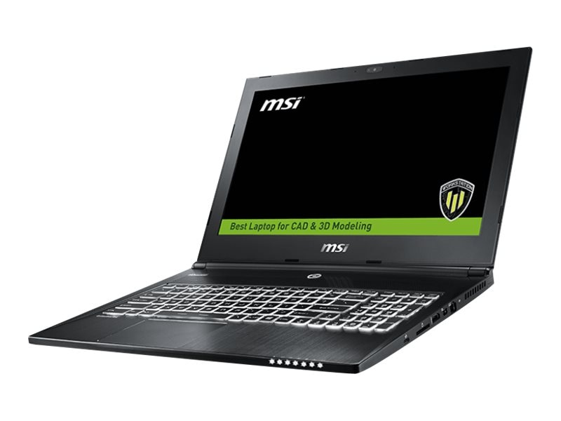 MSI WS60 6QI-237US Core i7-6700HQ 2.6GHz 8GB 1TB ac BT WC M1000M 15.6 FHD W10P, WS60 6QI-237US, 31388600, Workstations - Mobile