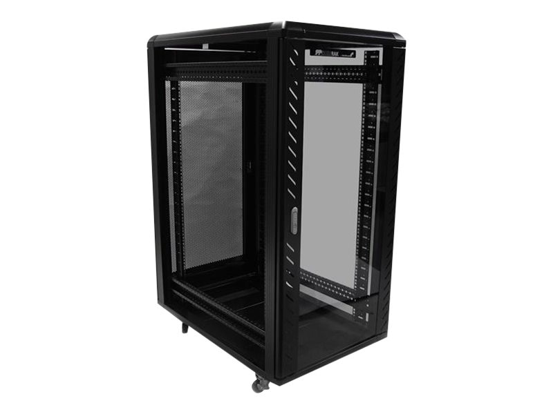 StarTech.com 36 Knock-Down Server Rack Cabinet with Casters, 25U, RK2536BKF, 12684948, Racks & Cabinets