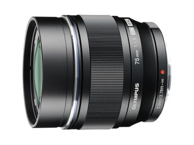 Olympus M.ZUIKO Digital 75mm f 1.8 Lens, Black, V311040BU000, 15751940, Camera & Camcorder Lenses & Filters