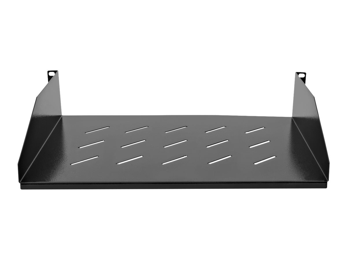 V7 Rack Mount Shelf 2U Vented 13.78 x 350mm Depth, RMSH2UV-1N