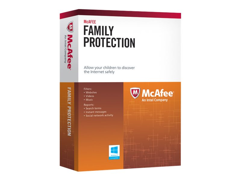 McAfee Family Protection for 3 PCs 2014, MFN14EMB3RAA, 16175948, Software - Antivirus & Endpoint Security