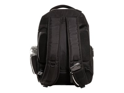 Eco Style Sports Voyage Backpack, Fits 16.4 Notebook, Black Silver, EVOY-BP15