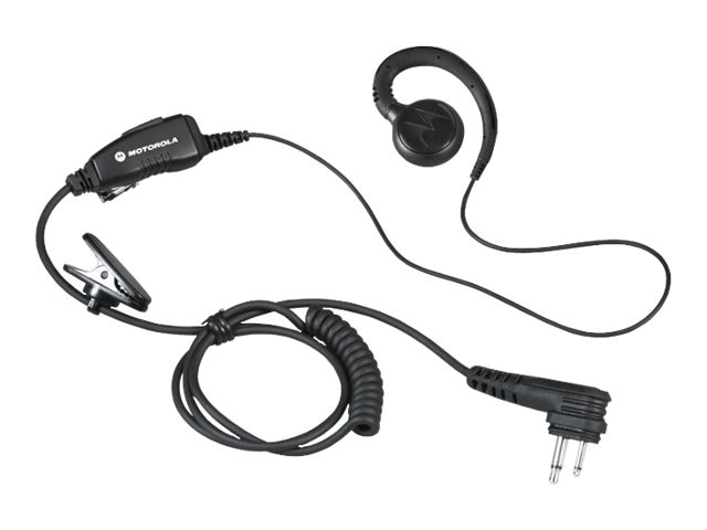 Motorola Lightweight Swivel Earpiece w  In-Line Clip PTT Mic, HKLN4604