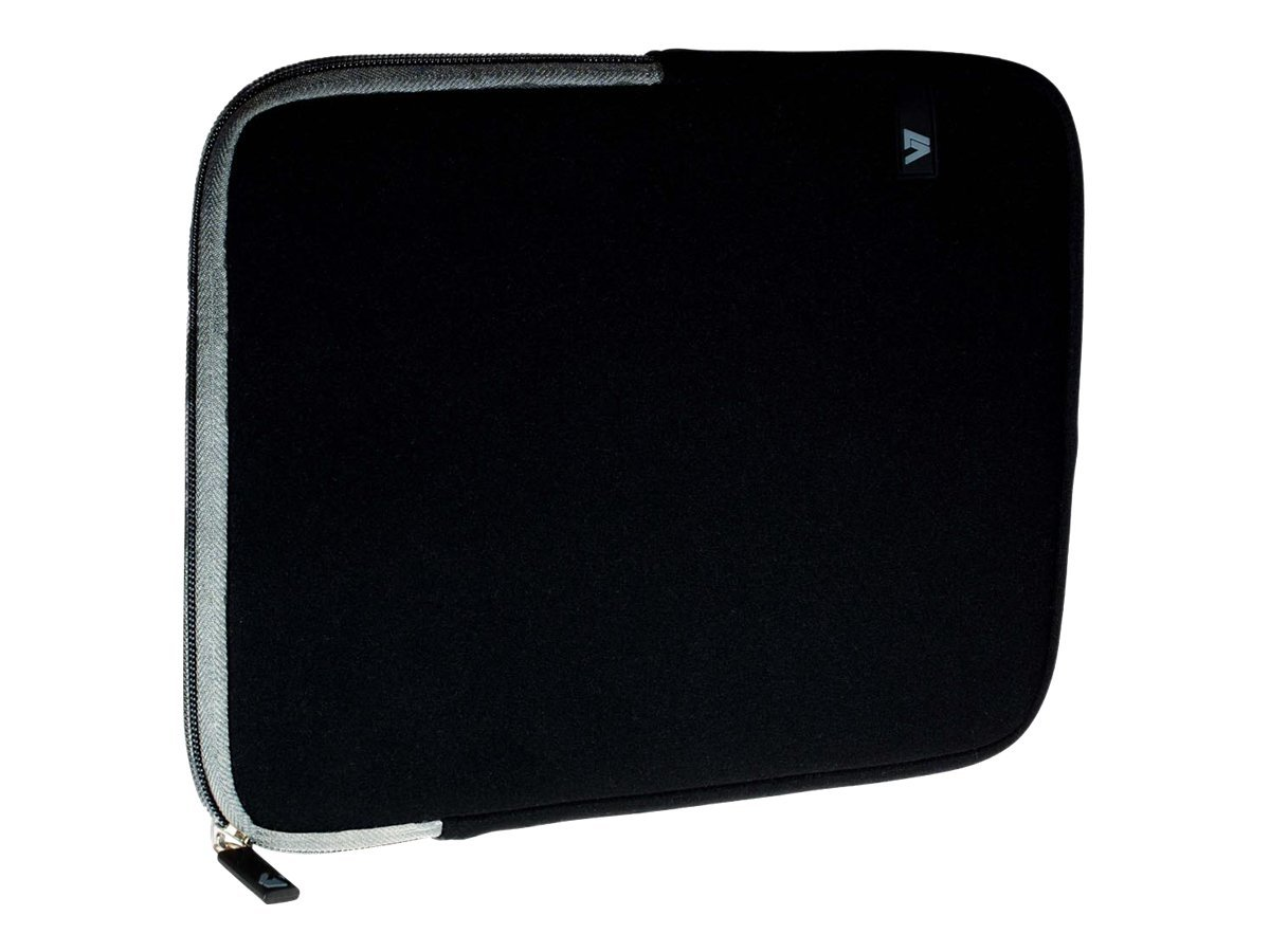 V7 Ultra Protective Sleeve for Tablet 10.1, iPad 1 2 3 4, iPad Air, Black Gray