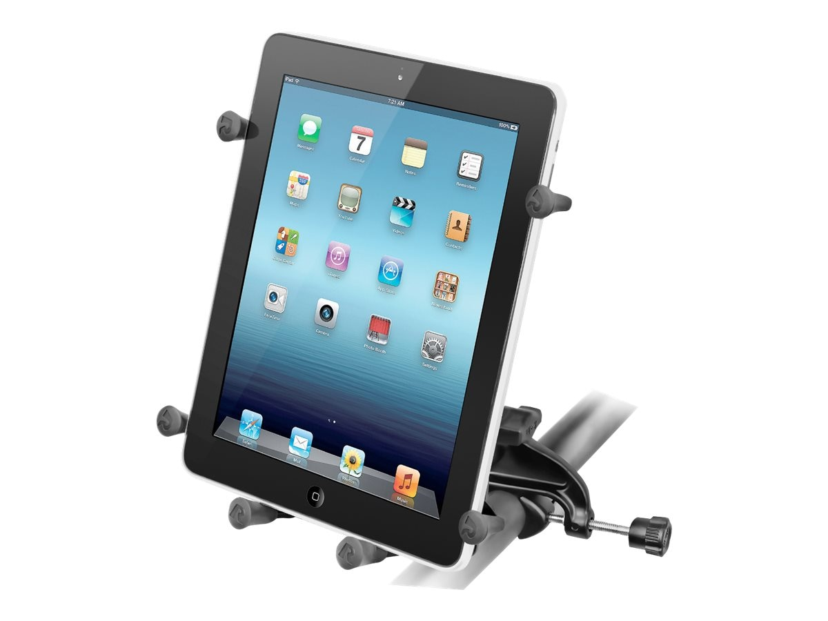 Ram Mounts Yoke Clamp Mount with Universal X-Grip Cradle for 10 Tablets