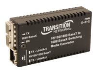 Transition 10 100 1000BTX to 1000BSX Converter 850NM MM SC, Europe, M/GE-PSW-SX-01-EU, 17804005, Network Transceivers