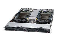 Supermicro SuperServer 6017TR 1U RM Xeon e5-2600 Family Max.256GB DDR3 2x3.5 HS Bays PCIe 2xGNIC 1280W