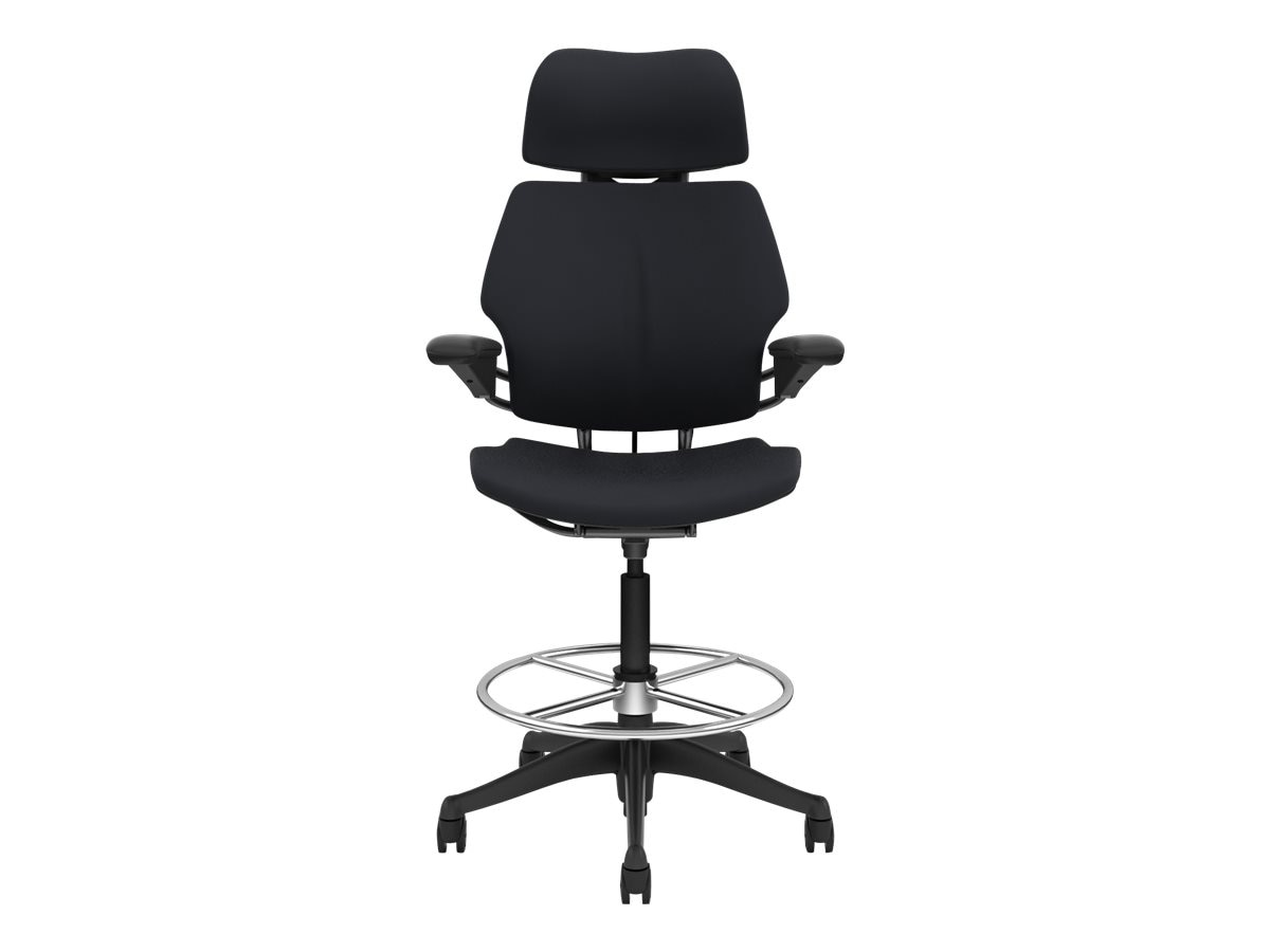 Humanscale Freedom Task Chair with Headrest, Vellum Graphite, F211GV102-GF----