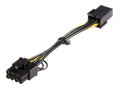 StarTech.com PCI Express 6pin to 8pin Power Adapter Cable, 6in, PCIEX68ADAP, 9532311, Adapters & Port Converters