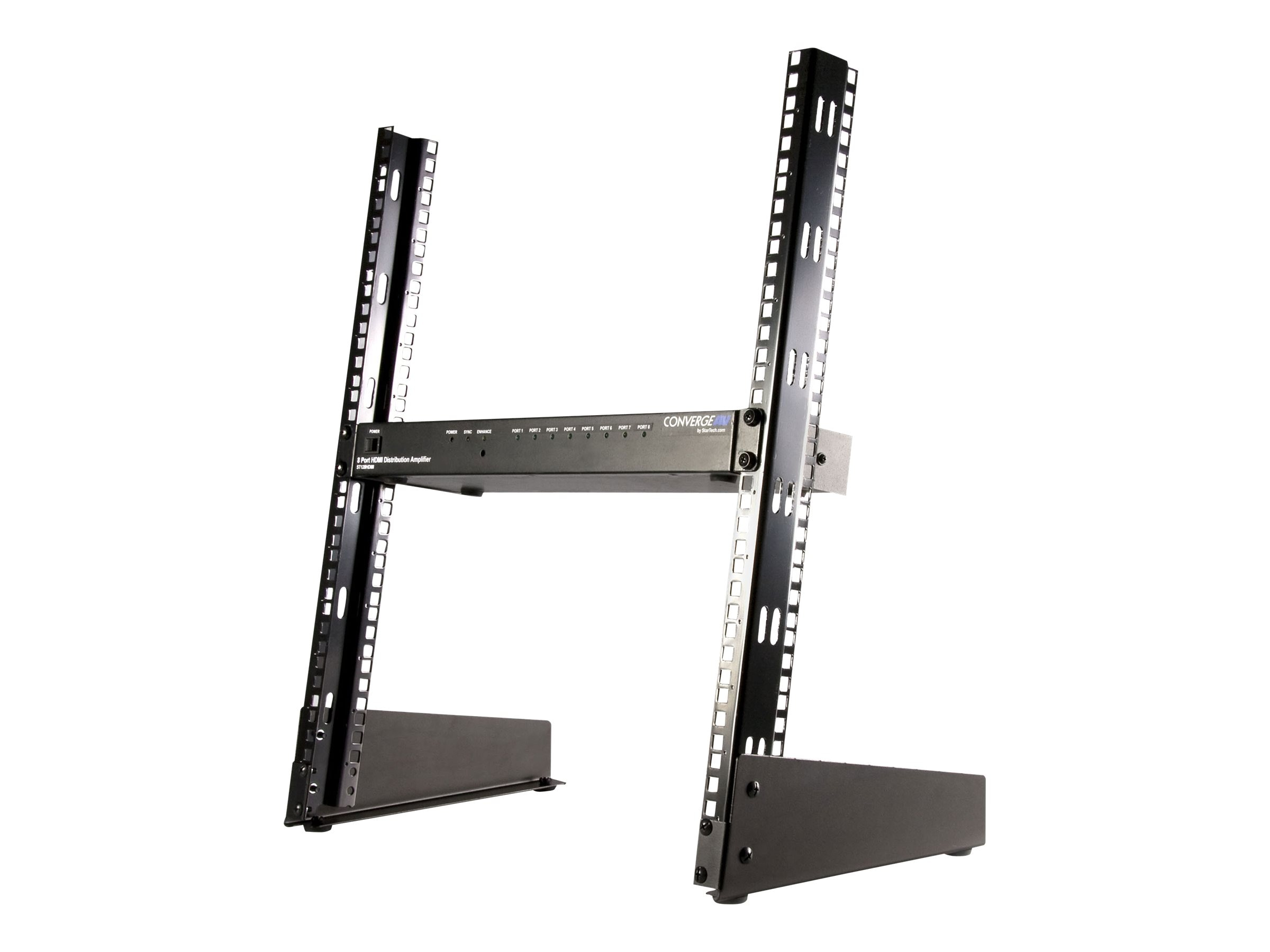 StarTech.com 19in Desktop Open Frame 2-Post Rack, 12U