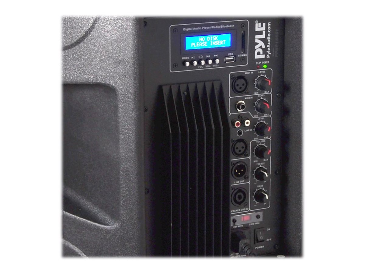 Pyle 1500W BT Active-Powered Loudspeaker Cabinet Wirleess PA Speaker System, PPHP155ST