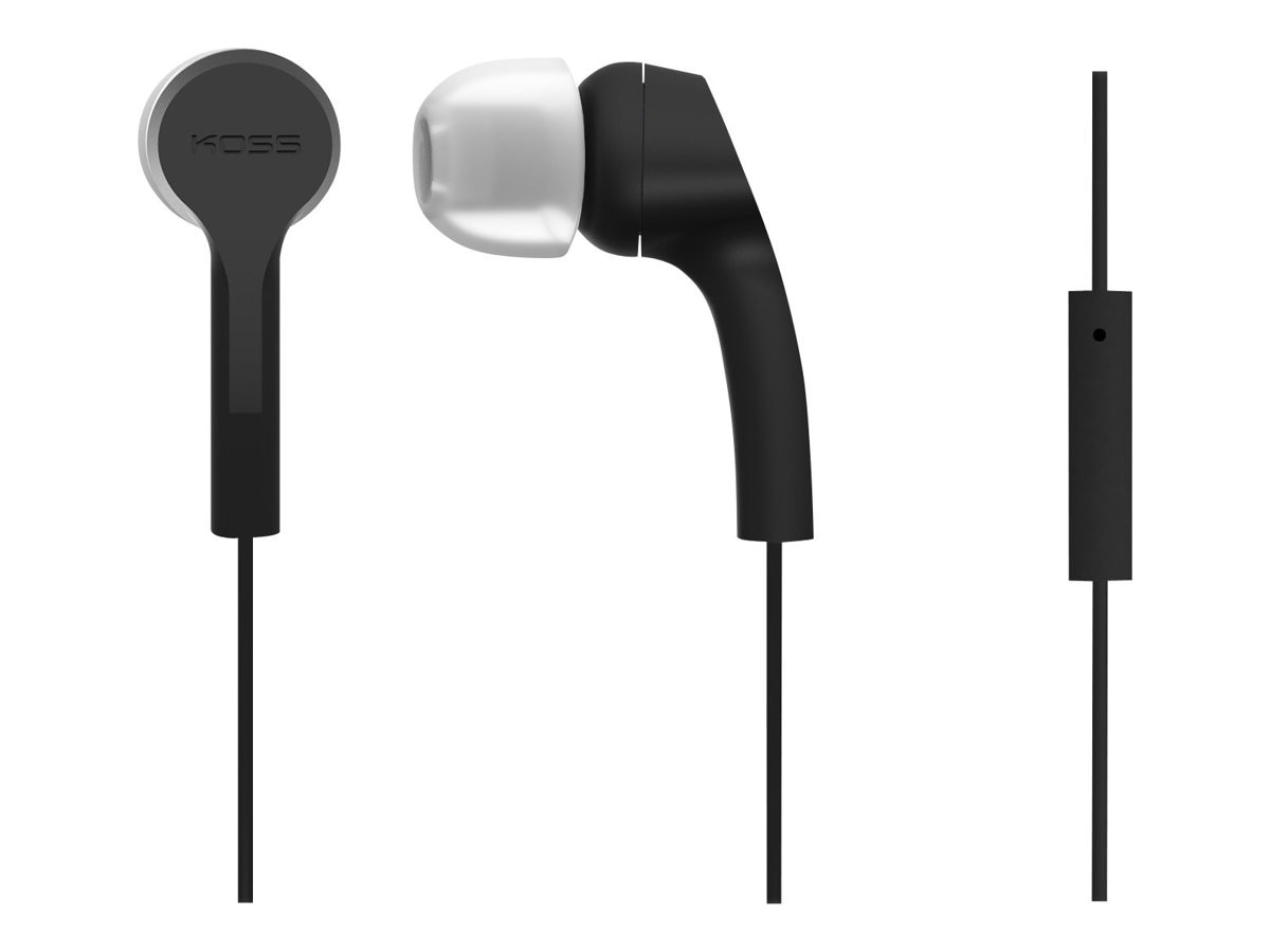 Koss Noise Isolation In-Ear Buds w  Extra Cushions - Black, KEB9IK