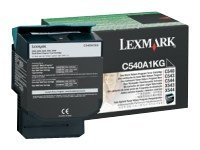 Lexmark Black Return Program Toner Cartridge for X543 & X544 Series MFPs & C540, C543 & C544 Series Printers, C540A1KG, 9163869, Toner and Imaging Components