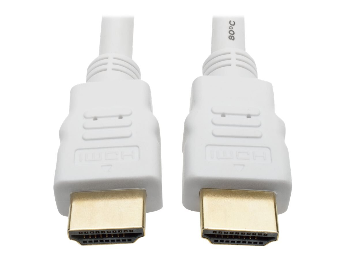Tripp Lite Ultra HD 4Kx2K High Speed HDMI M M Digital Video Cable with Audio, White, 10ft