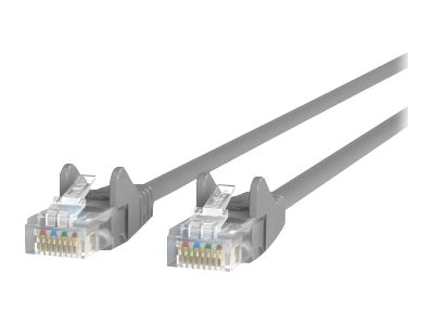 Belkin Cat6 UTP Patch Cable, Gray, Snagless, 2ft