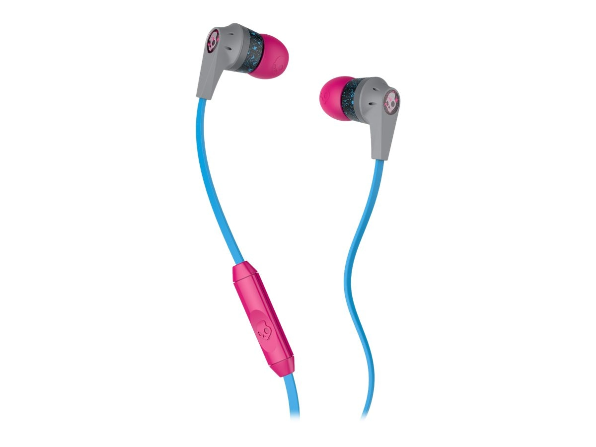 Skullcandy Ink'd 2 Earbuds - Gray Cyan Gray, S2IKGY-383, 23407487, Headsets (w/ microphone)