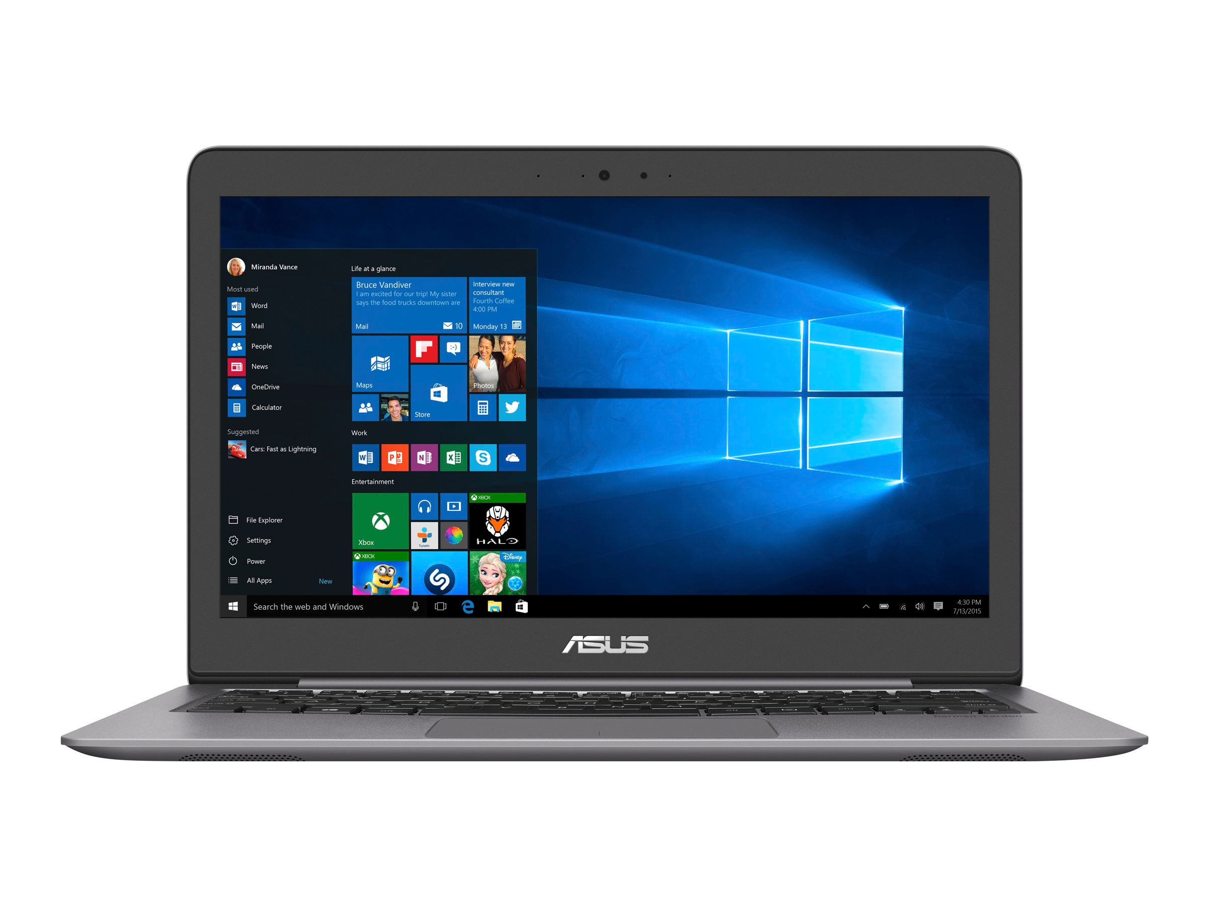 Asus Notebook PC Core i5-6198DU 8GB 1TB 15.6 W10, 90NB0CJ1-M01990