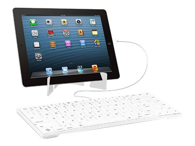 Macally Wired Keyboard with Stand, Lightning for iPad