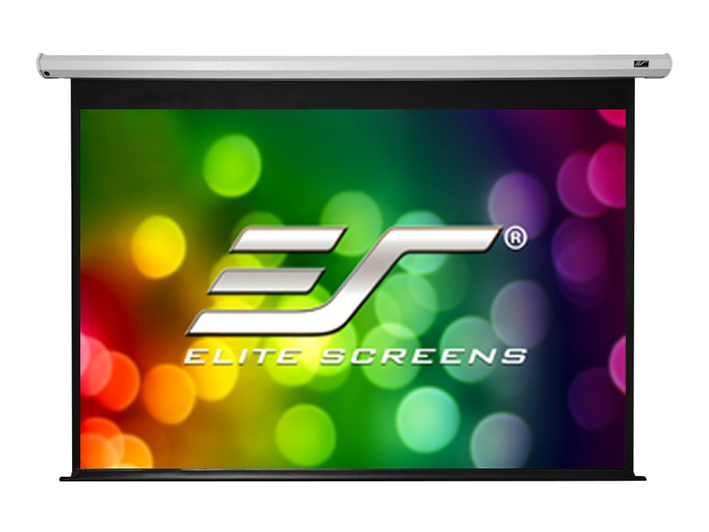 Elite Economy Electric Projection Screen, White Case, 120in