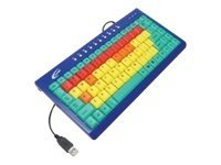 Ergoguys Wired Slim Califone Kids Computer Keyboard, USB or PS 2, 85 Normal 8 Function Color Coded Keys