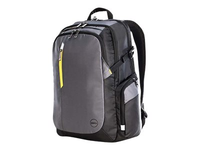 Dell Tek Backpack 17, Gray Black Yellow, N730W, 30980847, Carrying Cases - Notebook