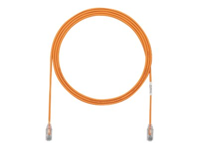 Panduit Cat6e 28AWG UTP CM LSZH Copper Patch Cable, Orange, 2ft
