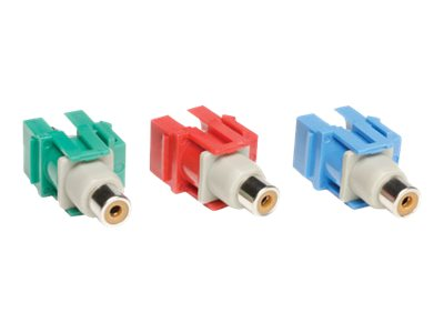 Tripp Lite Component Video Keystone Snap-in Module Kit 3-piece RCA Red, Green, Blue