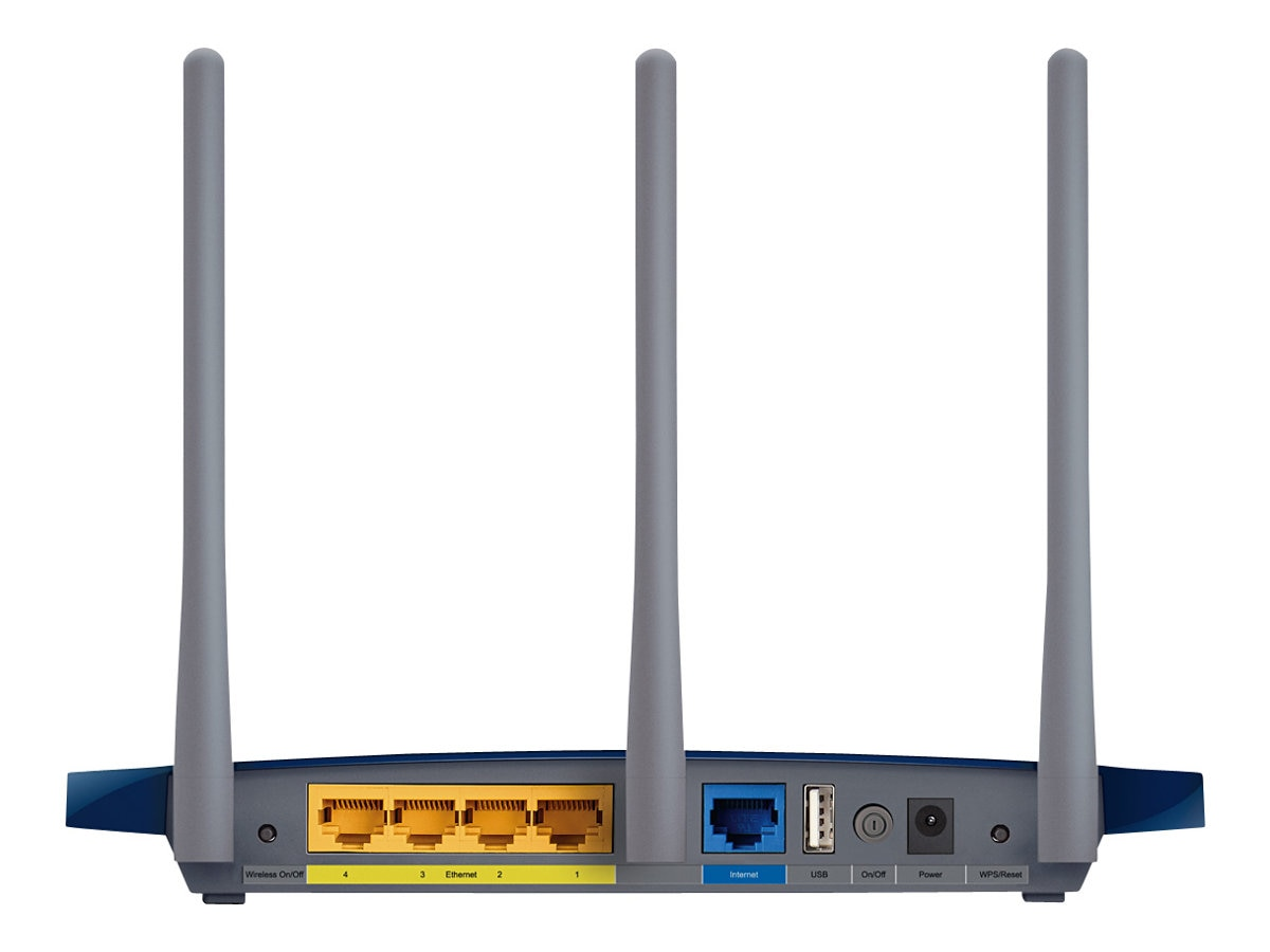 TP-LINK V2 Wireless N300 GB Router, USB port, 3 Detachable Antennas, Speed Boost up to 450Mbps, WPS Button, TL-WR1043ND