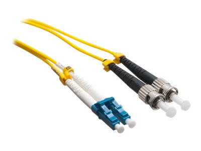 Axiom LC-ST 9 125 OS2 Singlemode Duplex Cable, Yellow, 100m