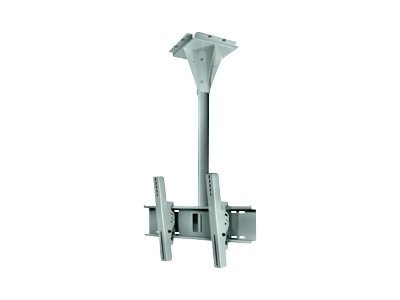 Peerless 2-Foot Universal Wind Rated Ceiling Mount for 32-65 Flat Panels up to 200lbs., Black