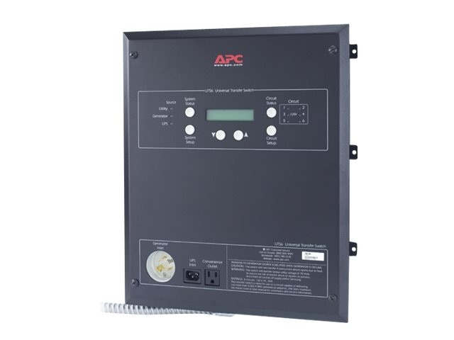 APC Universal Transfer Switch 6-Circuit 120V, UTS6, 8118695, Premise Wiring Equipment
