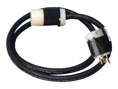 Tripp Lite Power Cord Extension Cable 208 240V Whip 10AWG, L6-30R - L6-30P, 20ft, SUWEL630C-20, 11571600, Power Cords