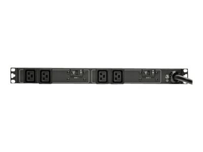 Tripp Lite Basic PDU 5 5.8kW 208 240V Single-Phase 1U Rack Mount L6-30P Input 12ft Cord (4) C19 Outlets, Black, PDUH30HV19