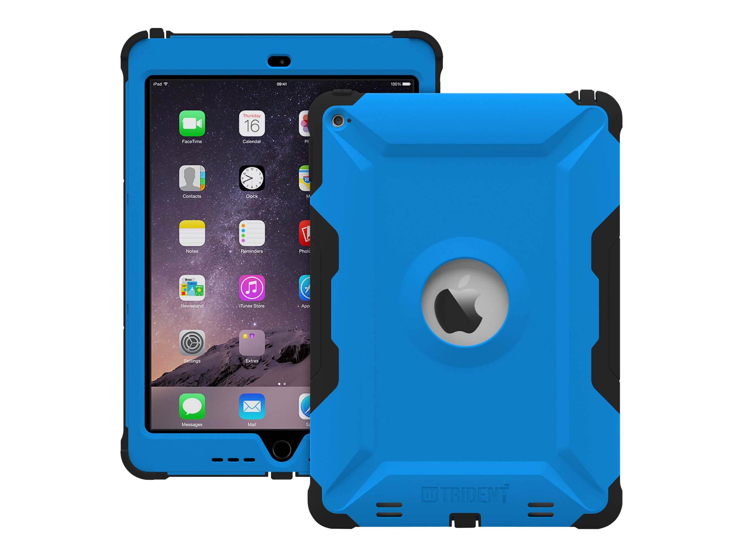 Trident Case 2015 Kraken AMS Case for iPad Air 2, Blue, KN-APIPA2-BL000, 18404863, Carrying Cases - Tablets & eReaders