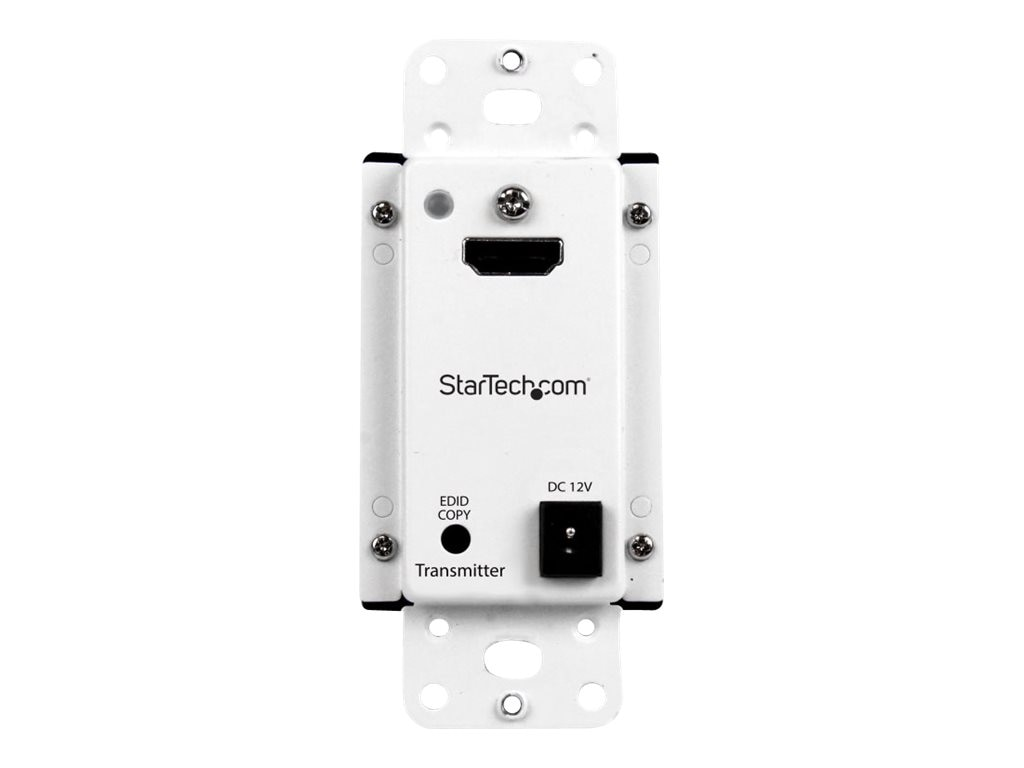 StarTech.com Wall Plate HDMI over CAT5 Extender with Power Over Cable, 165ft, ST121HDWP