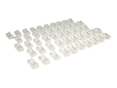 Tripp Lite Cat5e RJ-45 Modular Connectors for Stranded Cat5e Cable, 50-Pack