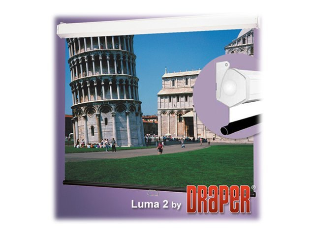 Draper Luma 2 with AutoReturn Projection Screen, Matt White, 16:9, 106, 206166