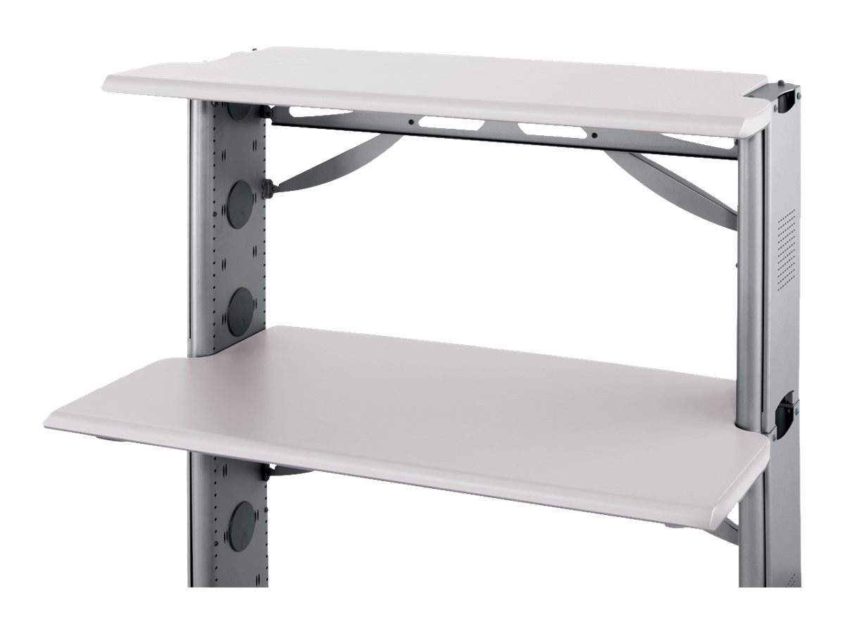 Ergotron 60w x 21d AnthroBench II Shelf, Silver Cool Gray