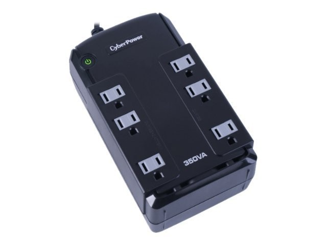 CyberPower 350VA Compact 96V-140V Standby UPS 5-15P Input 5ft Cord (6) 5-15R Outlets, CP350SLG, 12526923, Battery Backup/UPS
